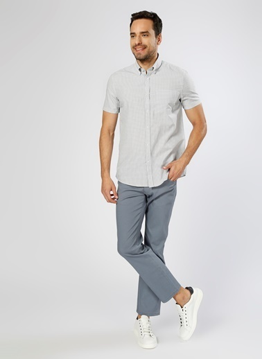 Cotton Bar Kısa Kollu Gömlek Beyaz